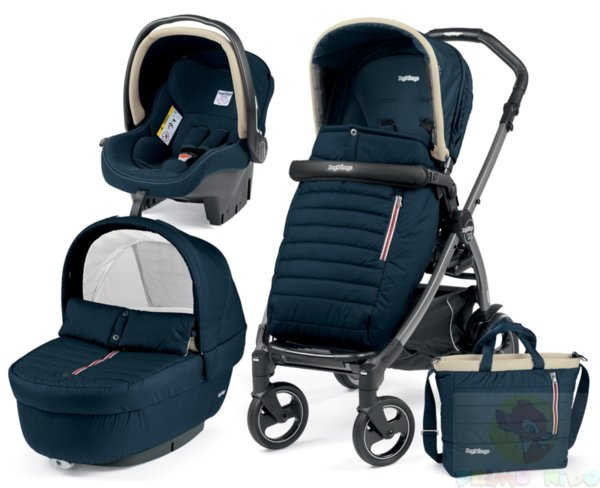 Peg Perego 2018 Бебешка количка Book 51 Set Elite Breeze Blue Modular+ седалка Pop Up Completo + шаси Book 51